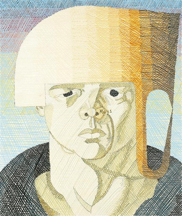 Philip Akkerman - Self-portrait 1991 no.63